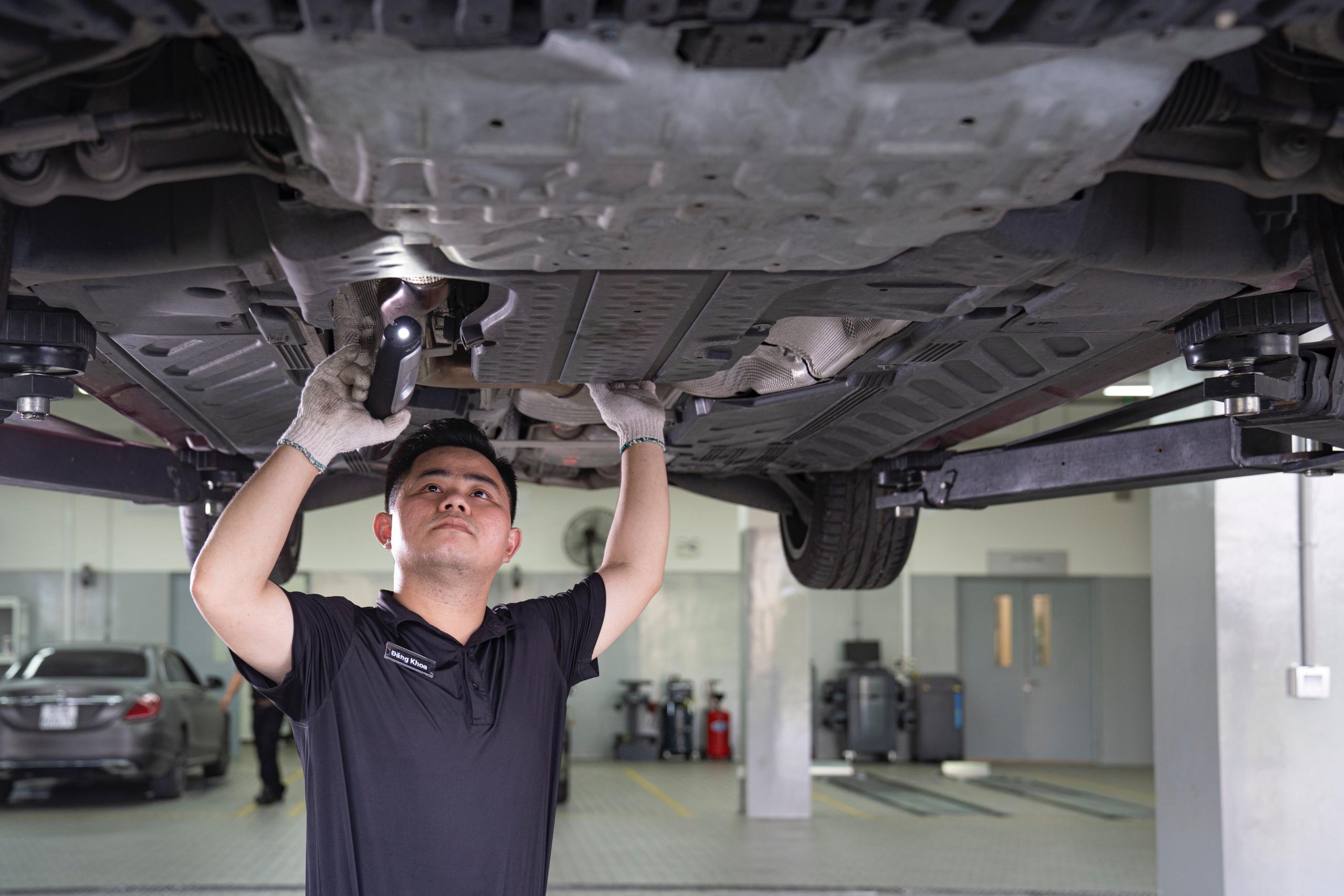 chi phí bảo dưỡng xe mercedes